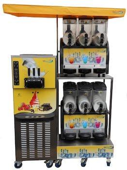 ensemble machines à glace italienne et machine à granité pour professionnels