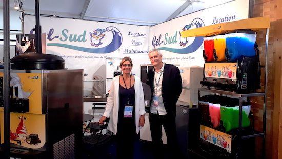 Isabelle et Éric Bonnemaison au Salon de la Teste de Buch en octobre 2018