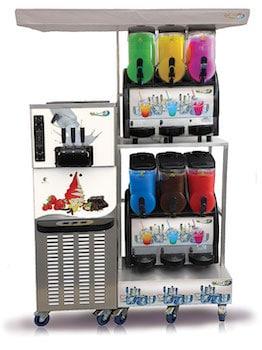 ensemble machines à glace italienne et machine à granité pour professionnels Gel Sud