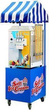 le trolley gel est une machine à glace italienne de comptoir